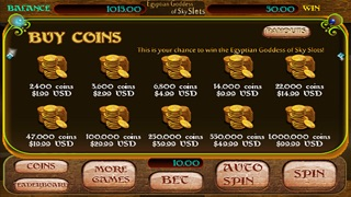 Egyptian Goddess of Sky Slots Free - Arcade Casino Presents a Vegas Style Slot Machine Game For Your Entertainment!-3