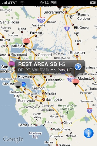 Rest Area Finder On The App Store - Map of us rest stops