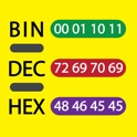 Bin Dec Hex Text Converter with Calculator for iPad icon