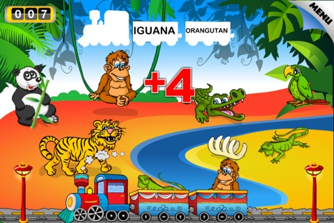 Animal Train - First Word FREE screenshot 3