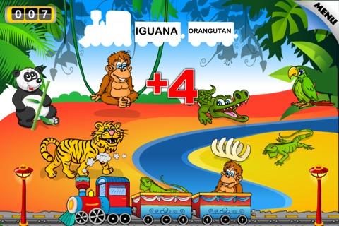 Animal Train - First Word FREE screenshot 3