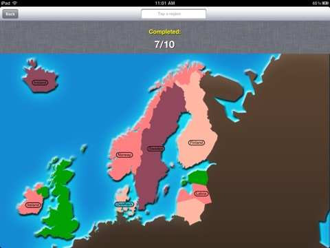Tapquiz maps world edition on the app store ipad screenshot 3 sciox Images