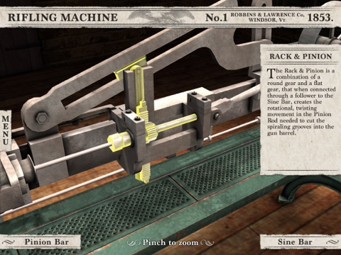 Civil War Rifling Machine (1853) App screenshot 4