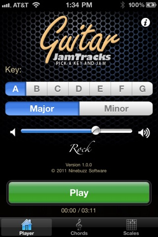 Screenshot #1 for Guitar Jam Tracks: Rock