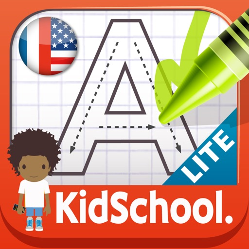 KidSchool : my first alphabet in English and French FREE iOS App