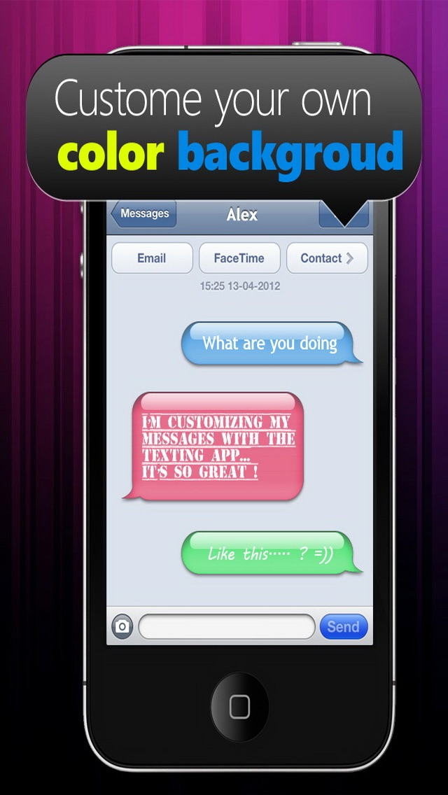 Screenshot von Farben & Schriften – Individuelle Gestaltung deiner Nachrichten Gratis4