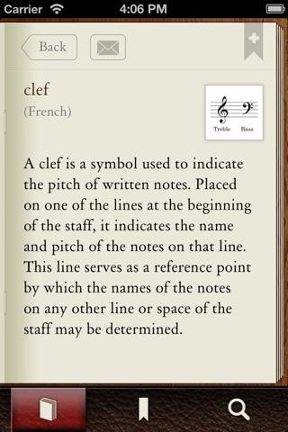 Musictionary Music Dictionary screenshot 2