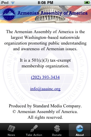 Armenian Assembly of America screenshot 2