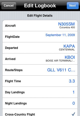 AvConnect Lite - Automatic Pilot Logbook screenshot 3