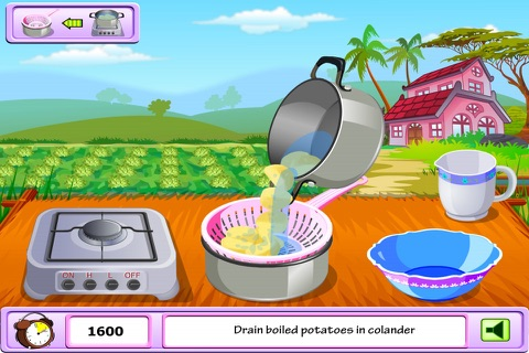 Young Girl Chef: Potato Pie -  A Potato Named Pou screenshot 4