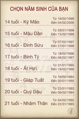 Vận hạn Nhâm Thìn 2012 screenshot 2