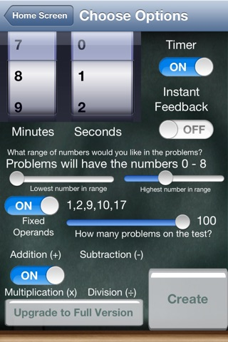 Timed Test Free for iPhone screenshot 3
