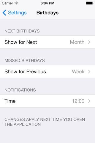 Birthday Reminders screenshot 4