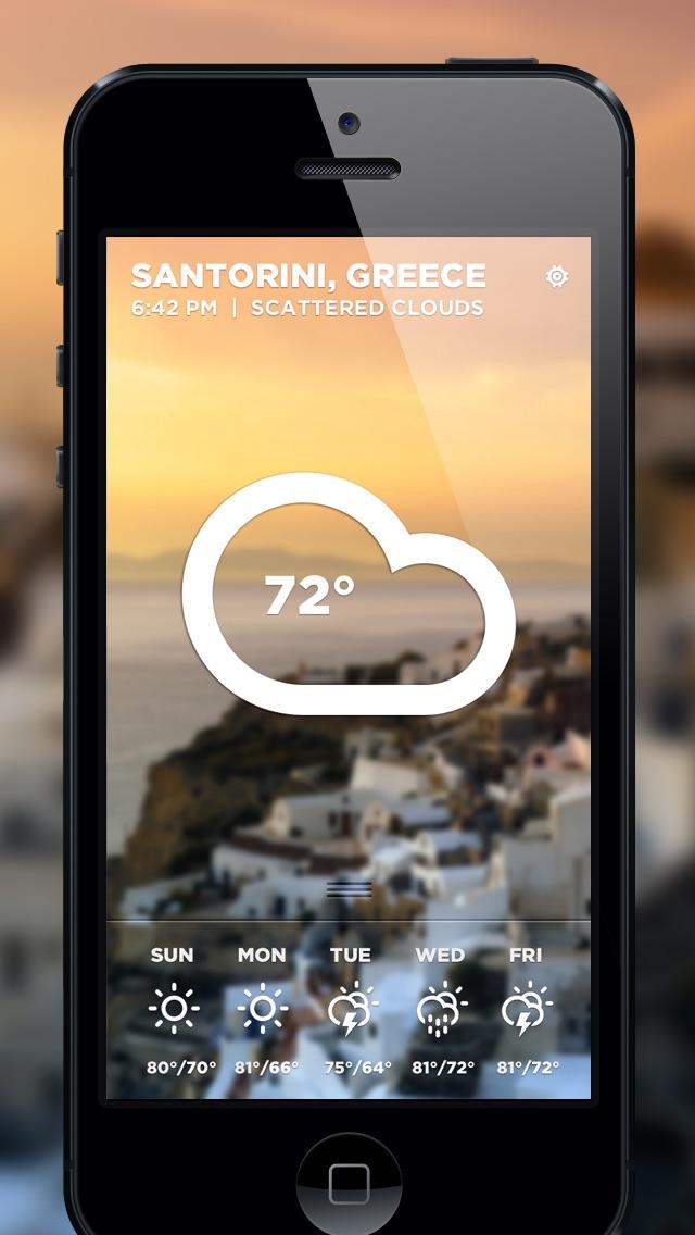 Morning Rain app