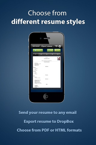 Pocket Mobile Resume PRO for iPhone screenshot 3