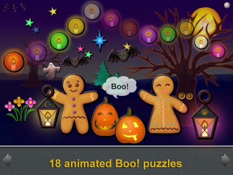 Animated Boo! Halloween Magic Shape Puzzles for Kids and SuperKids screenshot 3