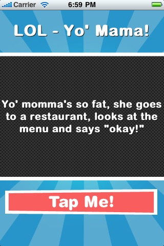 Screenshots of LOL - Yo' Mama! for iPhone