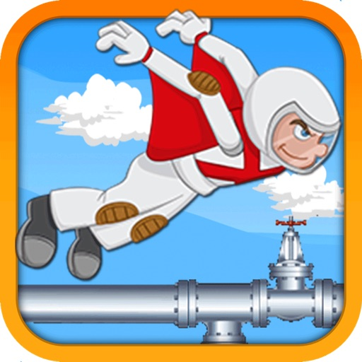 Flappy Flying Man Pipe Maze - A Wing Suit Adventure Game - by Top Free Fun Games iOS App