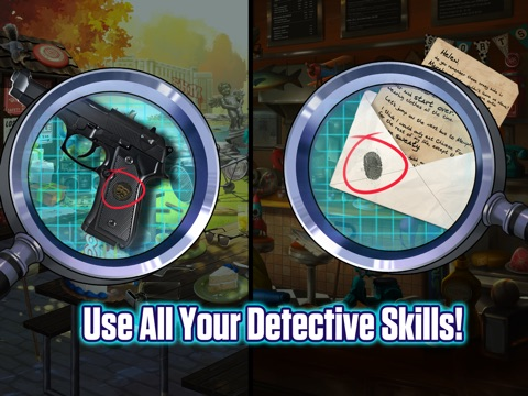 Screenshots of Hidden Objects: Mystery Crimes for iPad