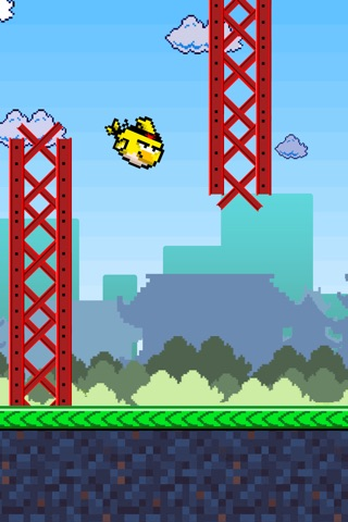 Birdie Fly Away - fly through pipes and have fun screenshot 1