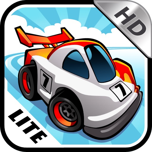 Mini Motor Racing HD LITE iOS App