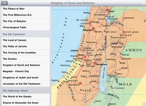 Carta Compact Atlas HD, Bible Maps screenshot 1