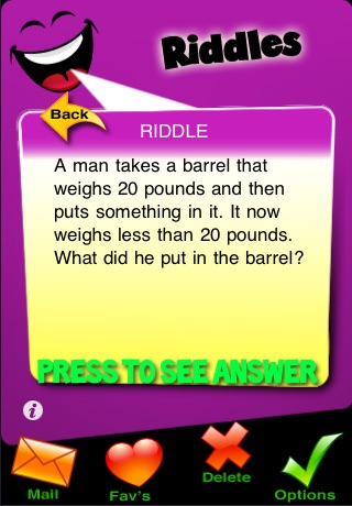 Screenshots of Funny 500 - Riddles Lite for iPhone