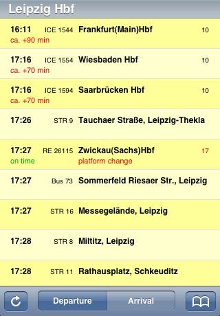 Fahrplan screenshot 1