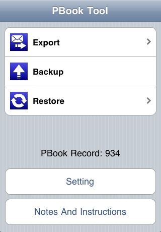 iContacts Manager(Phonebook back up and restore) screenshot 1