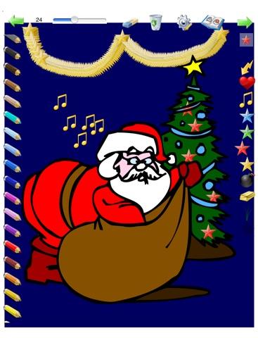 Coloriages de Noël pour les enfants pour iPad avec des crayons de couleurs - 36 dessins à colorier avec le Père Noël, des sapins, des lutins, et plus - GRATUIT screenshot 2