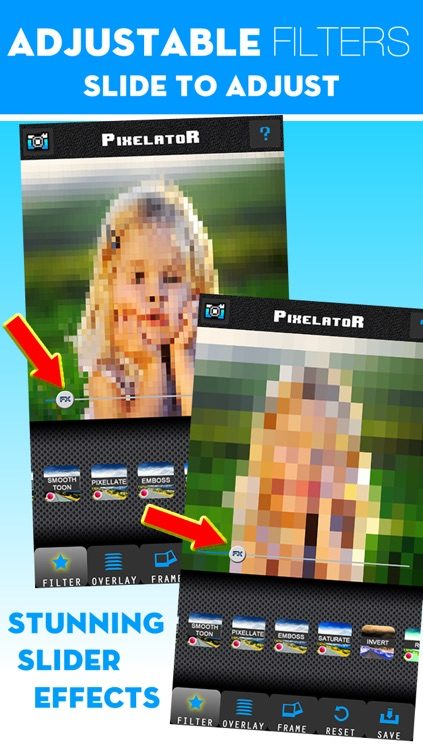Pixelator Professional photo editor with cool effects, beautiful filters,  awesome frames! by Happy Dog Apps LLC