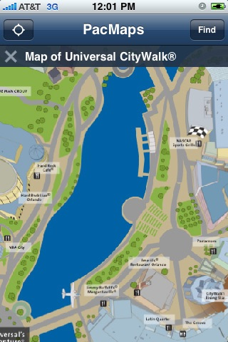 CityWalk Orlando Map by Nick Jag Inc. on
