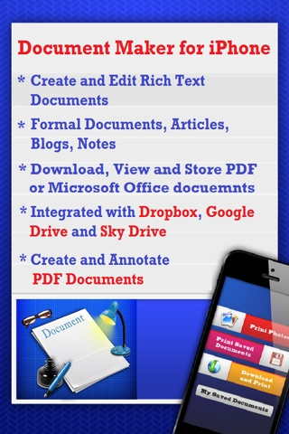 Document Maker - Create & Edit Rich Text Docs and Generate PDF screenshot 1