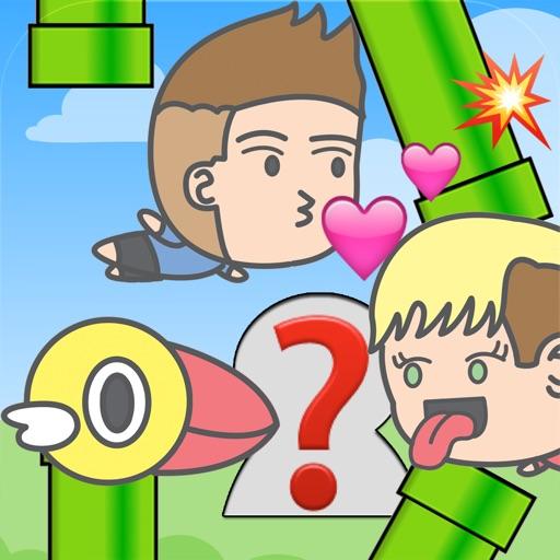 Kiss Celebrity - Flappy Adventures of Kissing Chibi Celebrities with Emoji iOS App