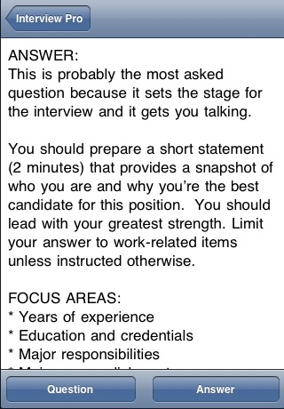 Screenshot of Interview Pro