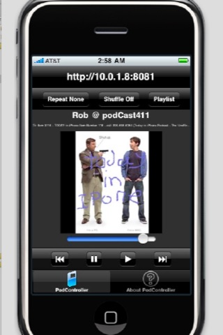 Music Remote™ (Remotely control the iPod player in your iPhone, iPod touch and iPad) screenshot 4