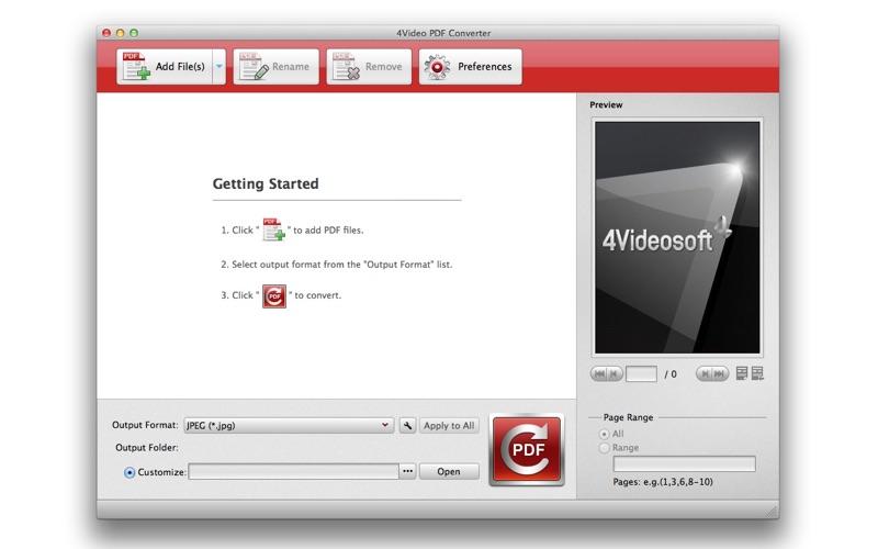 4Video PDF Converter Screenshot