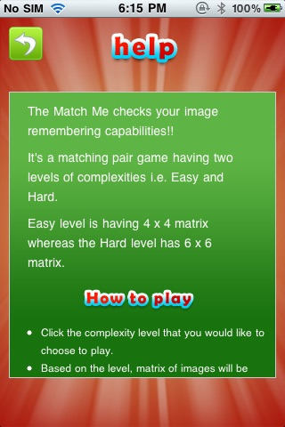MatchMe memory game screenshot 3