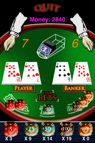Mini Baccarat screenshot 1