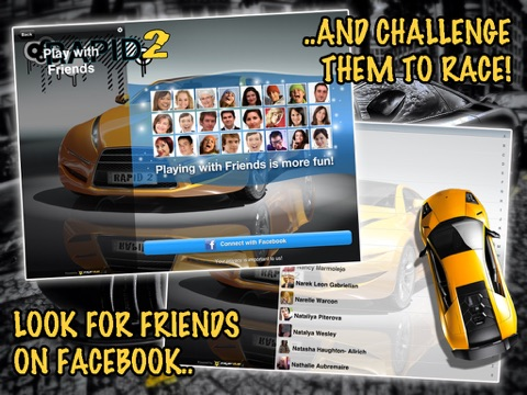 Screenshots of Rapid 2: Fast Track Car Racing for iPad