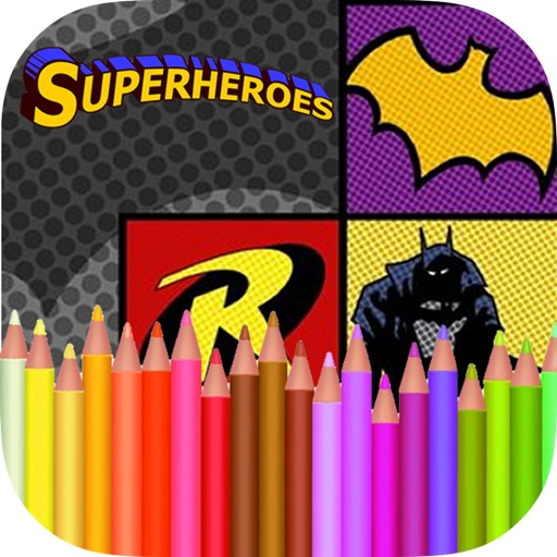 Coloring Book Heroes iOS App