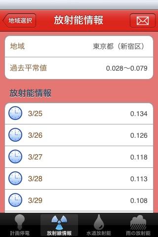 停電・放射能情報 screenshot 3