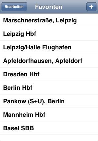 Fahrplan screenshot 3