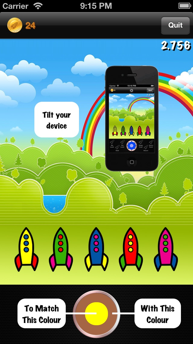 Rainbow Rockets! Screenshot 1