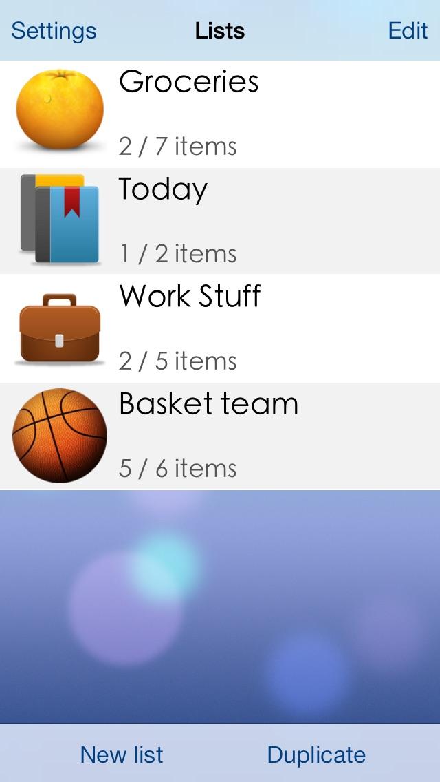Screenshot of Lists To-do1