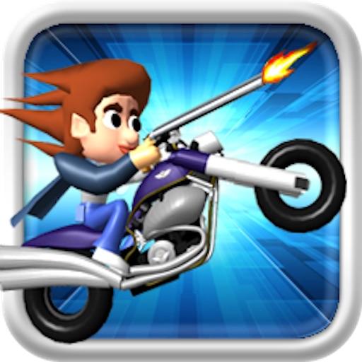 【横版跑酷】Top Gun Rider ( 赛车和射击汽车游戏 )