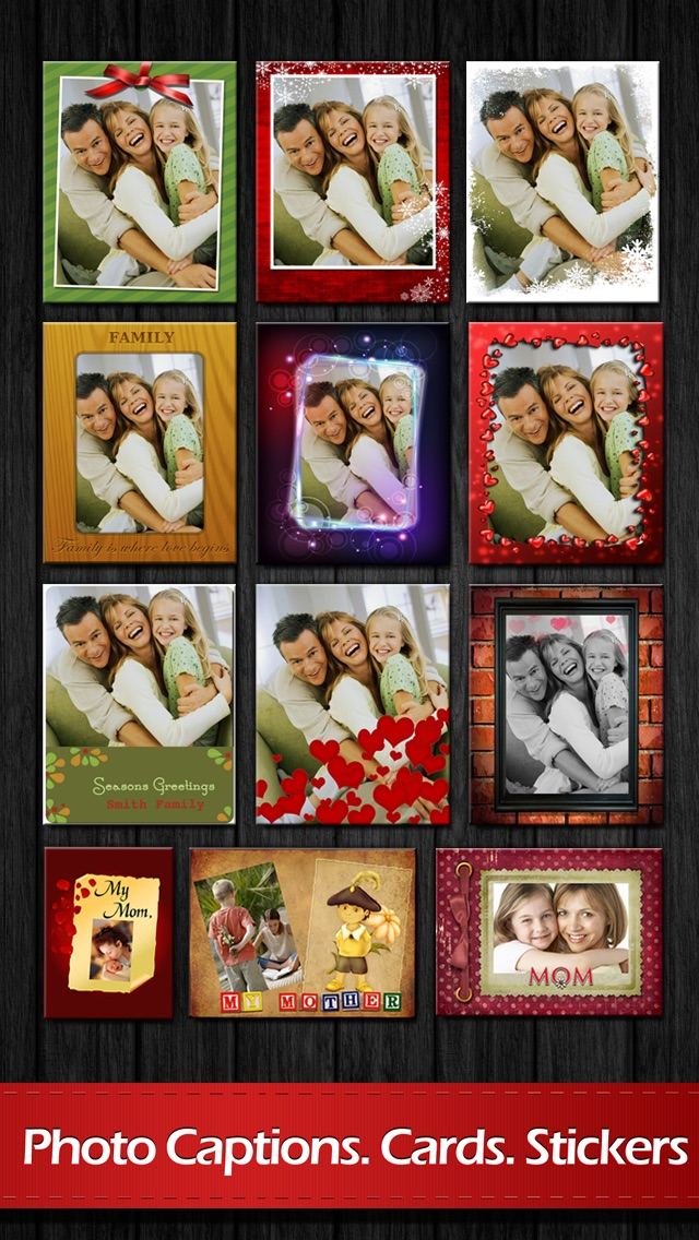 Screenshot #2 for Photo Captions Free: Frames, Cards, Collage, Text & more
