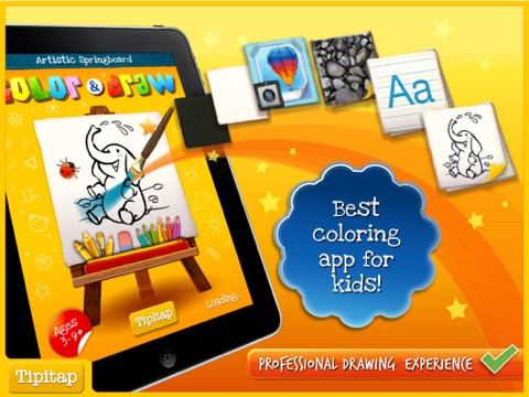 Color Draw For Kids HD 4 Apps In 1