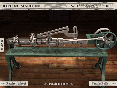 Civil War Rifling Machine (1853) App screenshot 1