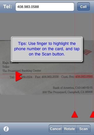 Screenshot of Biz Cards (Business Card Holder/Scanner/Printer)